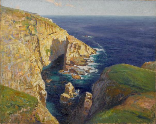 Mikhail Stepanovich Tkachenko (Russian, 1860-1919)Coastal edge 65 x 81 cm. (25 ½ x 32 in.)