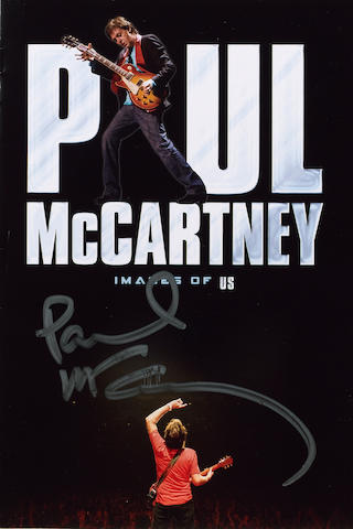 An autographed copy of the Paul McCartney DVD, 'The Space Within Us',