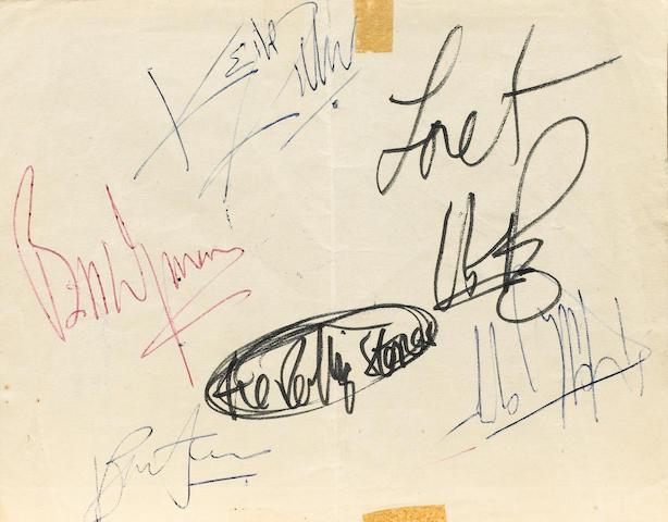 Rolling Stones autographs, 1960s,