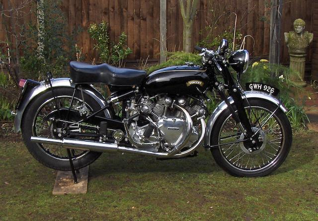 1954 Vincent 998cc White Shadow Series-C  Frame no. RC12451A Engine no. F10AB/1A/10551