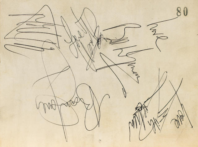 A set of Rolling Stones autographs,