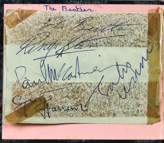 Beatles autographs, circa 1964,