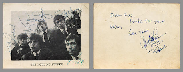 A signed Rolling Stones publicity photograph, circa 1964,
