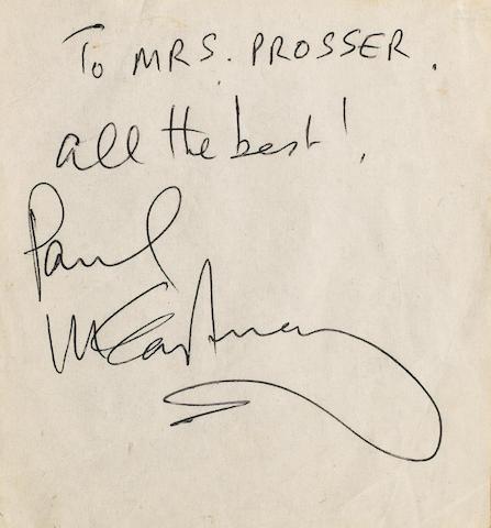 Paul McCartney's autograph,