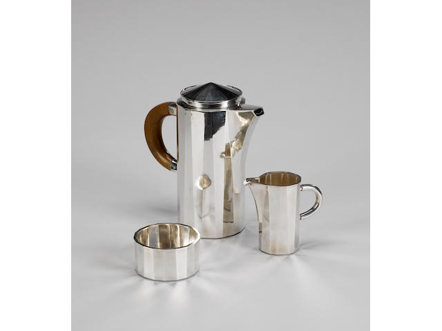 A three piece coffee service