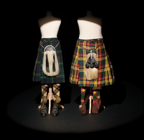 Personal Costumes owned by Laurel and Hardy Two Kilts and Sporrans as well as other effects used by