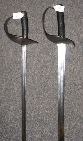 An 1899 Pattern Cavalry Trooper's Sword.