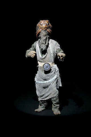 A complete Sea Devil costume from Dr. Who, 1972, as used in series nine, with Jon Pertwee as the Doctor,