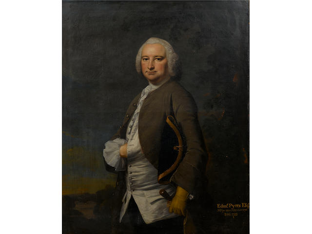 Attributed to Joseph Highmore (London 1692-1780 Canterbury) Portrait of Edmund Pytts, MP for Worcestershire 1741, 127 x 100.7 cm. (50 x 39¾ in.)