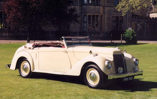 1946 Armstrong-Siddeley 16hp Hurricane Drophead Coupé  Chassis no. C162349 Engine no. E162389