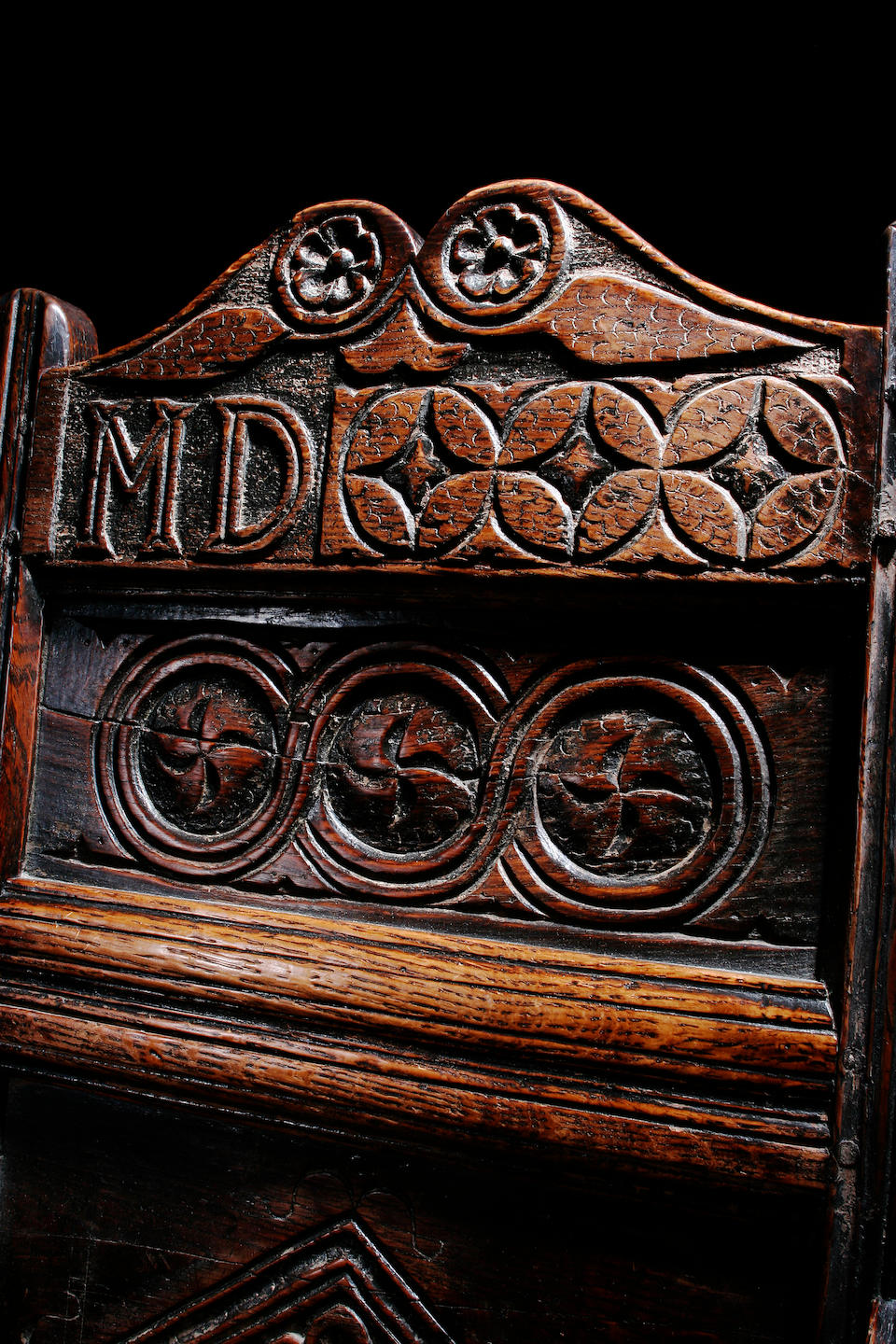 A late 17th Century oak wainscot chair, Yorkshire