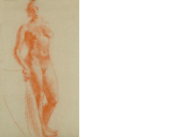 Clara Klinghoffer (British, 1900-1972) Standing female nude