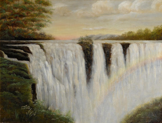 After Thomas Baines Victoria Falls, Zambesi River, 86.3 x 111.8cm.