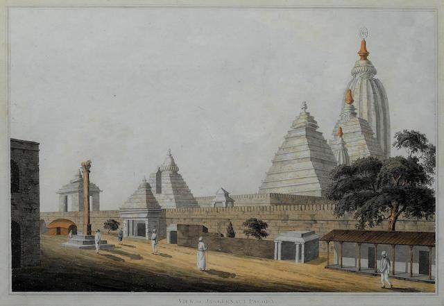 John Gantz (British, 1772-1853)The Jagannath Temple at Puri, India 30 x 45 cm. (11¾ x 17¾ in.)