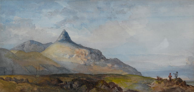 Thomas William Bowler (British, 1812-1869) The Lion's Head from the sea 24.1 x 49.5 cm. (9½ x 19½ in