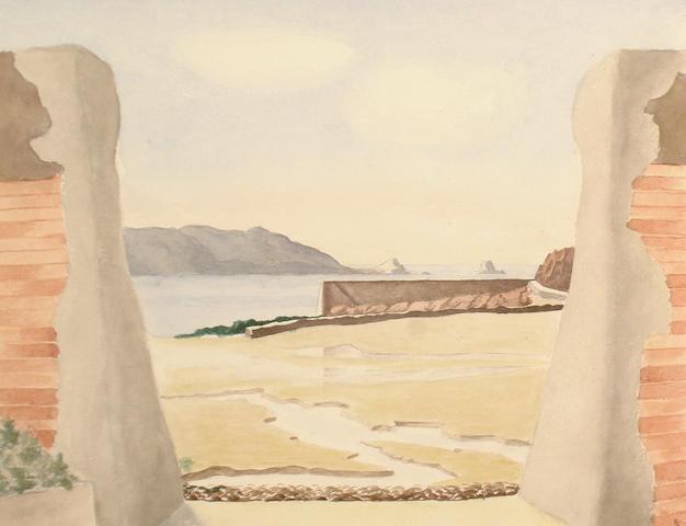 Fergus Graham (British, 20th Century) The Breach, St Brelades Bay, Jersey