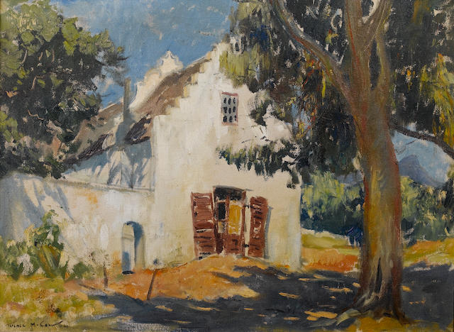 (n/a) Terence John McCaw (South African, 1913-1978) A Cape Dutch farmstead 51 x 68.6 cm. (20 x 27 in.)