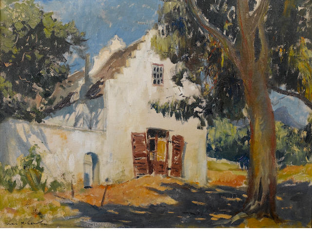 Terence John McCaw (South African, 1913-1978) A Cape Dutch farmstead 51 x 68.6 cm. (20 x 27 in.)