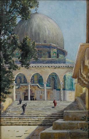 Phillipa Anna Frederica Stephenson (British, active circa 1900) The Dome of the Rock, Jerusalem, 38 x 25.5cm.