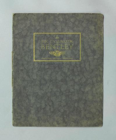 A good Six Cylinder 6½ Litre Bentley sales catalogue, August 1926,