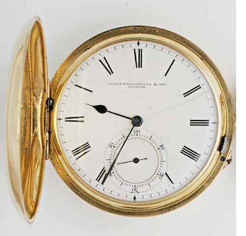 James Ballantyre & Sons, Glasgow: An 18ct gold hunter pocket watch