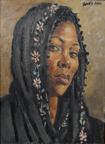 Alfred Neville Lewis (South African, 1895-1972) Portrait of a Malay girl 39.5 x 29 cm. (15½ x 11½ in.)