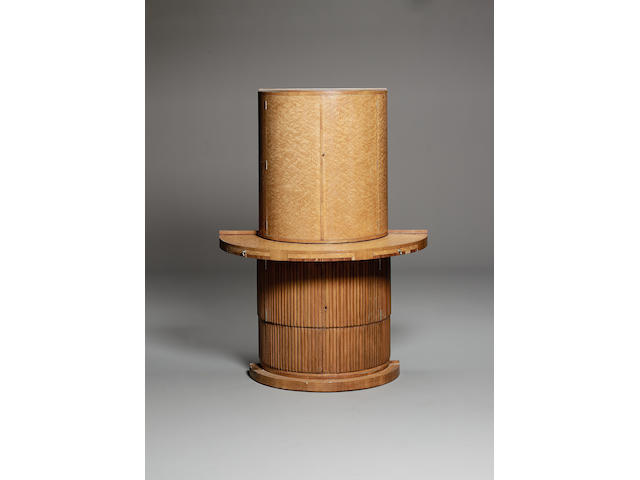 English Art Deco A Bird's Eye Maple and Rosewood Cocktail Cabinet, circa 1935