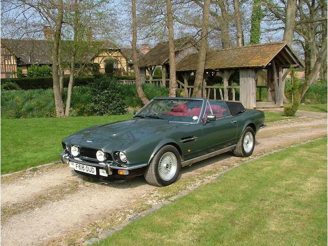 1989 Aston Martin Vantage Volante 'Prince of Wales'  Chassis no. SCFCV8IC2KTR15733 Engine no. V/580/5733/X