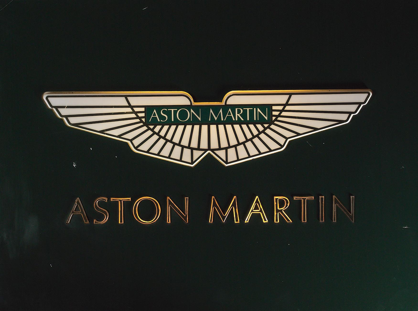 Aston Martin Racing oval sign