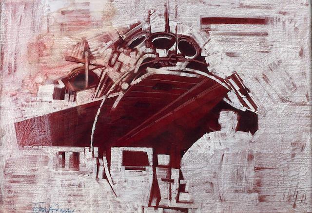 Artwork by Tom Adams for '2001: A Space Odyssey', Metro-Goldwyn-Mayer, 1968,