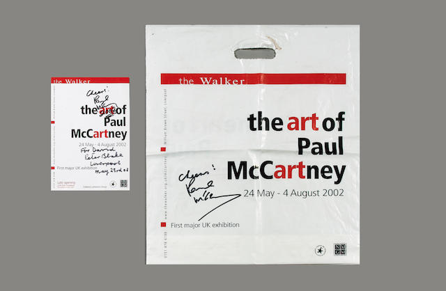Paul McCartney autograph material,