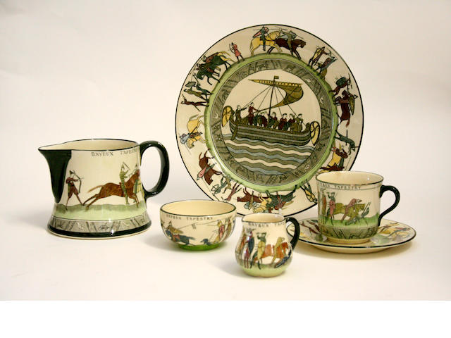 Doulton Series Ware A group of Royal Doulton 'Bayeux Tapestry' ware