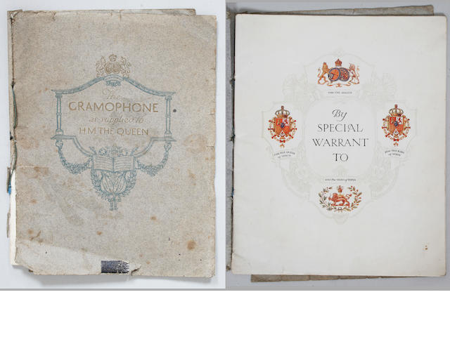An early trade catalogue by The Gramophone Co.