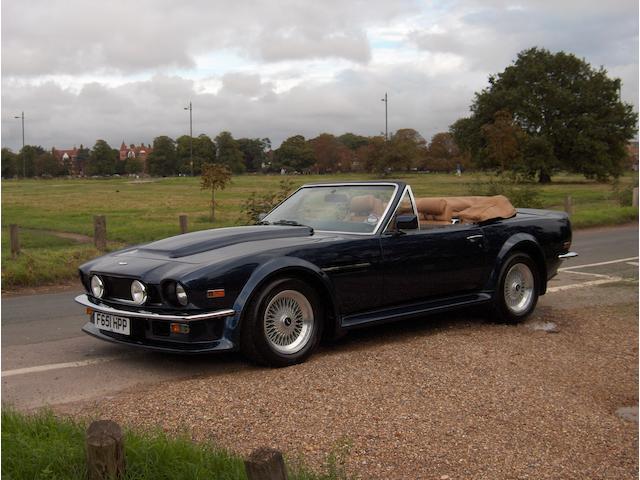 1988 Aston Martin V8 Vantage Volante Convertible  Chassis no. SCFCV81V9JTR15695 Engine no. V/580/5695/XA