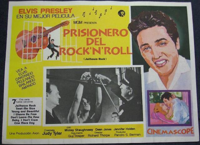 A collection of seven Elvis Presley related lobby cards, Mexican and Spanish, including;