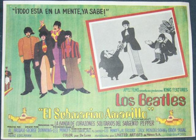 A collection of twelve Beatles related  lobby cards, Mexican and Spanish including;