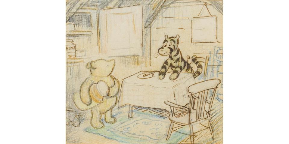 Ernest H. Shepard (British, 1879-1976) Tiggers don't like honey
