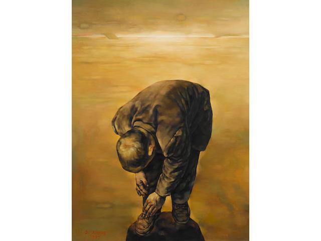 Su Xinping (b.1960) Enshrouded in Difficulty #1 129.5 x 96.5 cm. (51 x 38 in.)