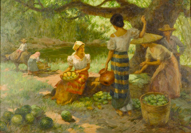 Fernando Amorsolo Y Cueto (1892-1972) Resting Under The Mango Tree