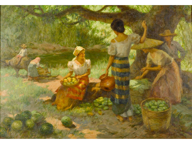 Fernando Cueto Amorsolo (1892-1972) Resting under the Mango Tree