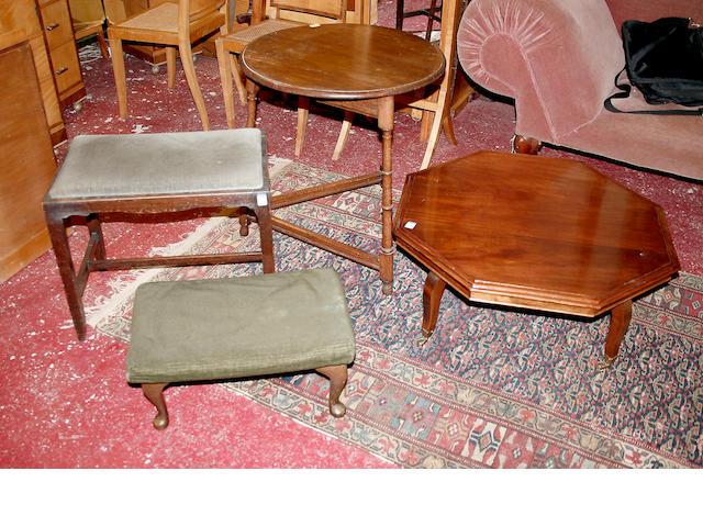 An oak cricket table