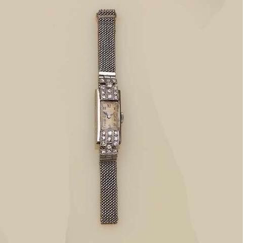 An Art Deco diamond cocktail watch