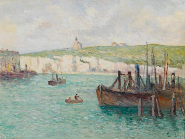 Maximilien Luce (French, 1858-1941) La falaise et l'église de Mers-les-Bains 50 x 65 cm (19 5/8 x 25 1/2 in)