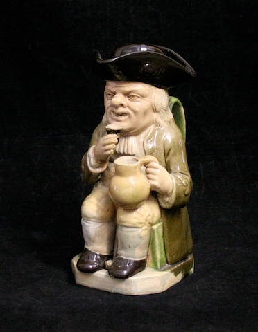 A Wood type toby jug and cover, circa 1780