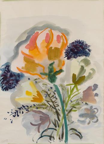 George Grosz (German, 1893-1959) Still life of flowers 56.5 x 41 cm (22 1/4 x 16 1/8 in)