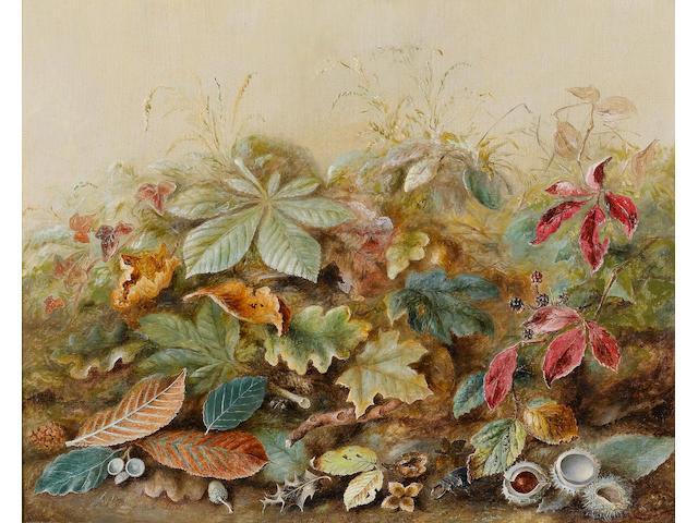 Albert Durer Lucas (British, 1828-1918) English autumn leaves 43.5 x 53.5 cm (17 x 21 in)