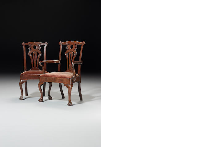 Eight George II Dining Chairs (Ex.Reynolds Park, Walton, Liverpool. Bought directly from descendant)