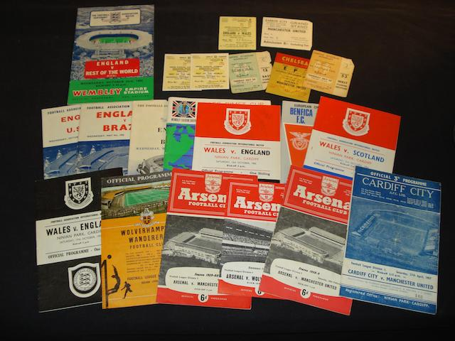 Assorted programmes and tickets