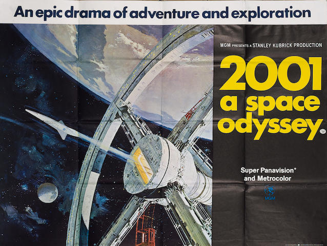 2001 A Space Odyssey 1968 UK Quad