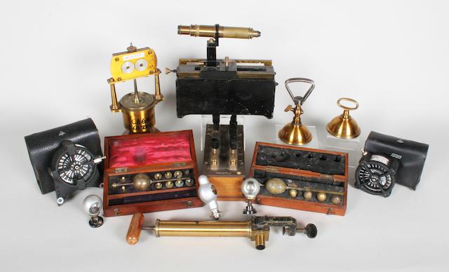 A mahogany cased Bates Saccharometer